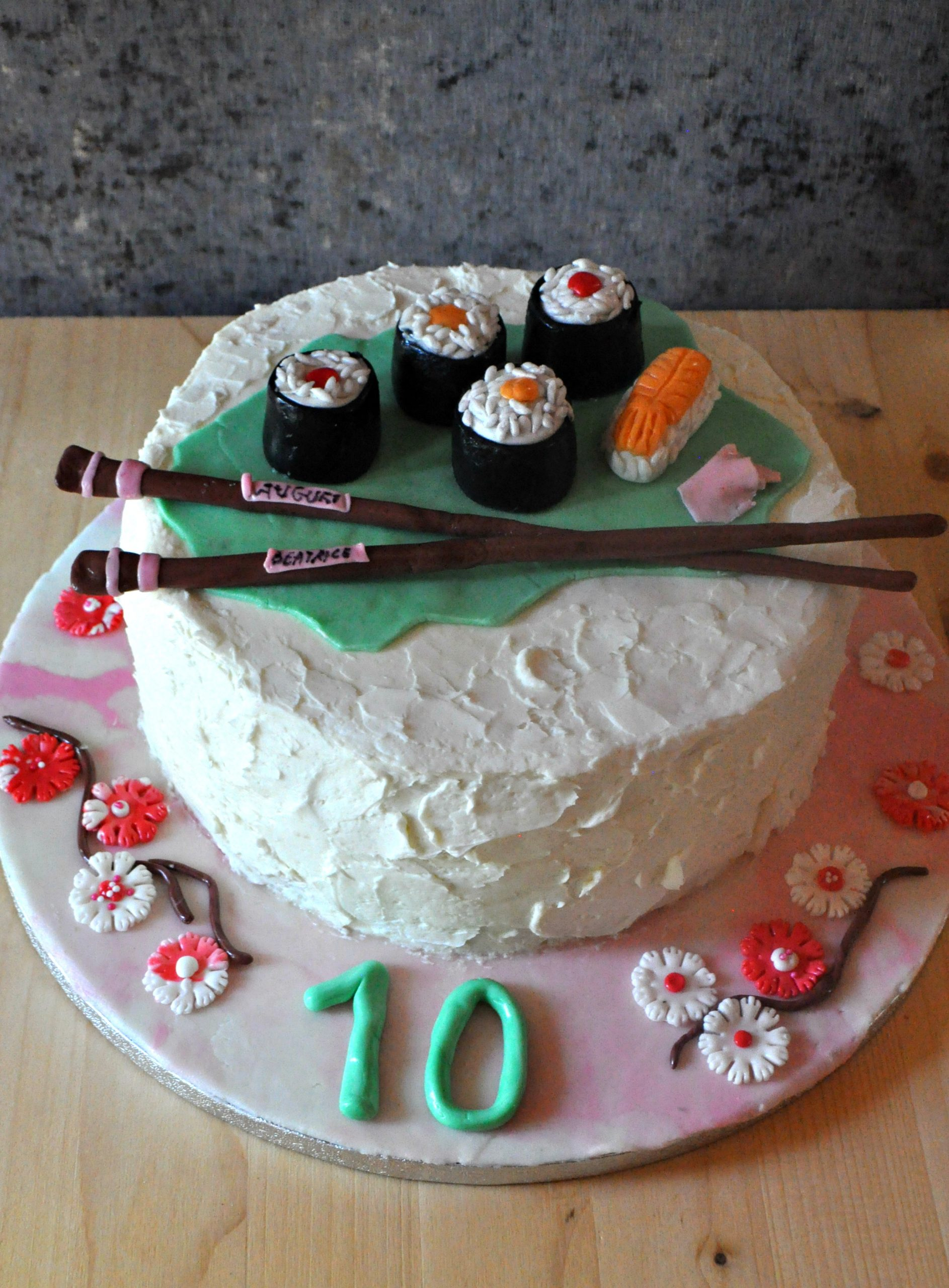 Torta compleanno sushi cake