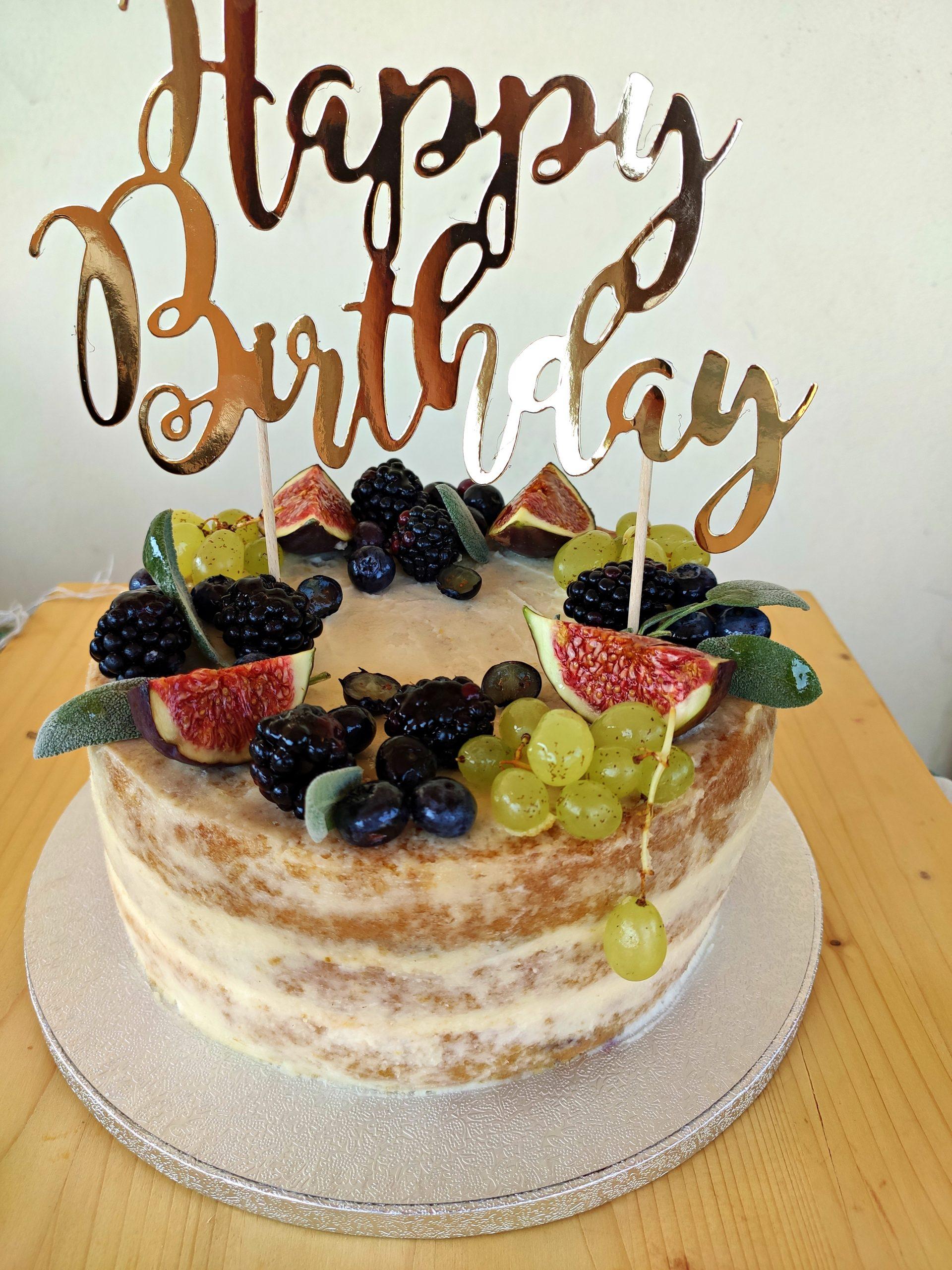 Torta di compleanno settembrina senza glutine