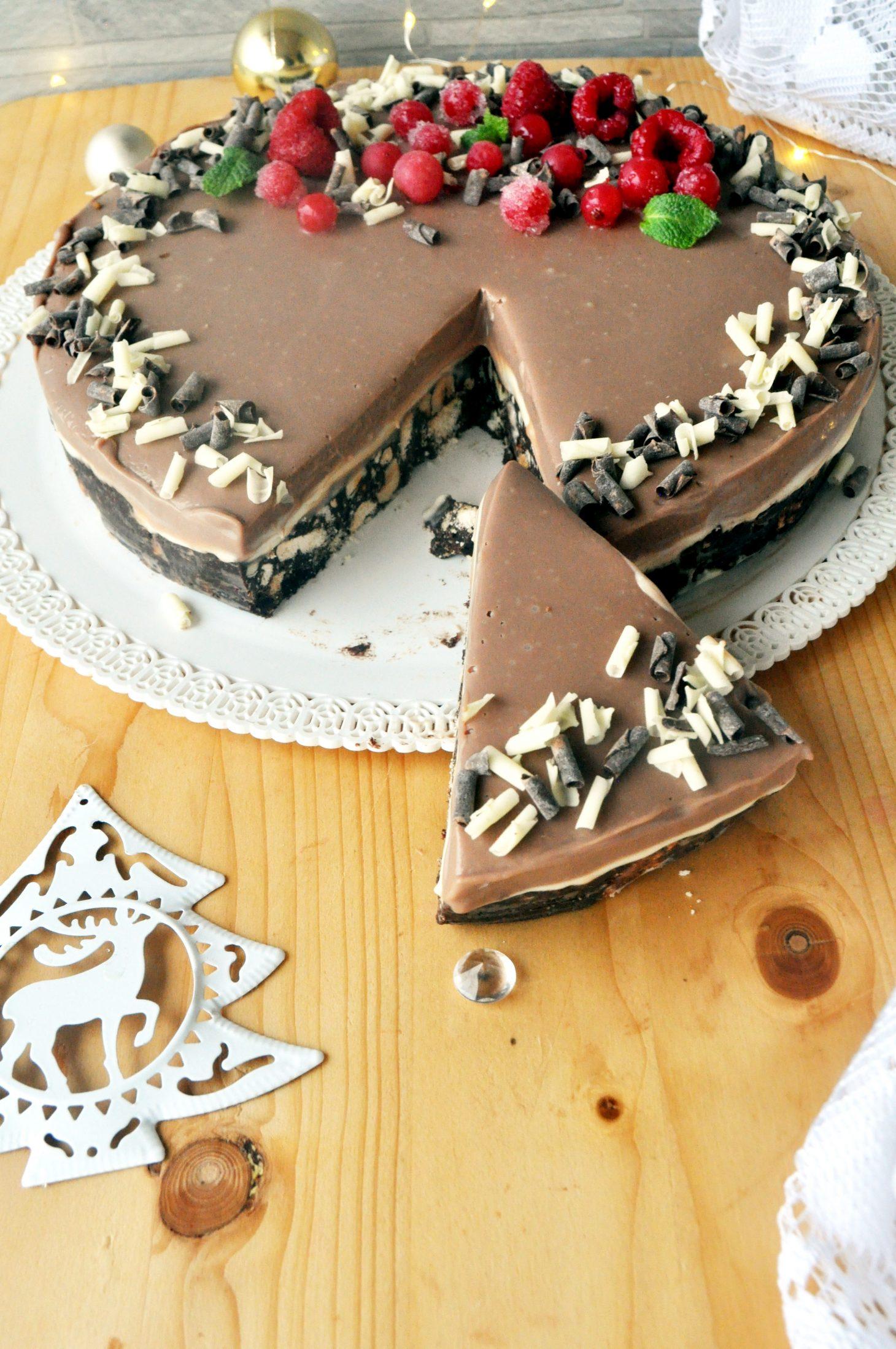 Torta triplo cioccolato senza glutine