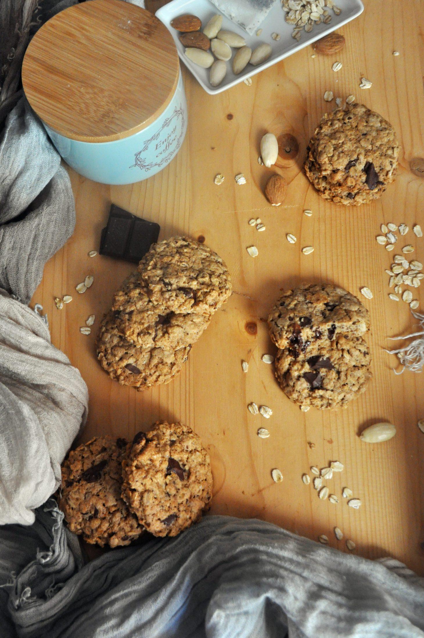 Cookies vegani banana e avena