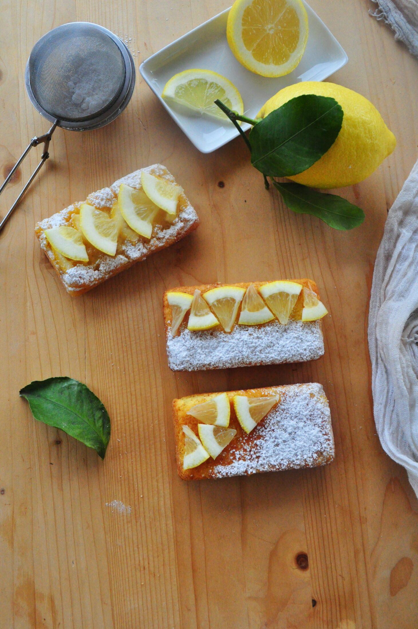 Miniplumcake farina di mais e limone