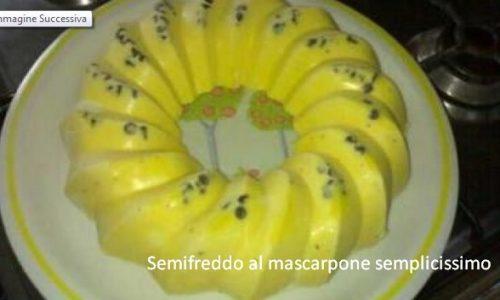 Semifreddo al mascarpone semplicissimo
