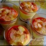 Simil-zuppa inglese nei bicchierini