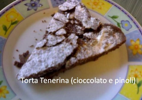 Torta Tenerina (cioccolato e pinoli)