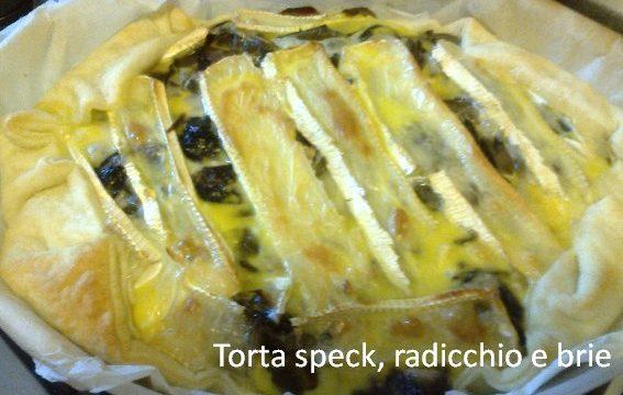 Torta speck, radicchio, brie