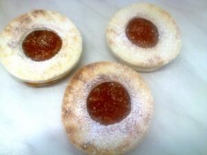 Piada-occhi di bue alla marmellata di albicocche