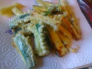 Zucchine fritte pastellate