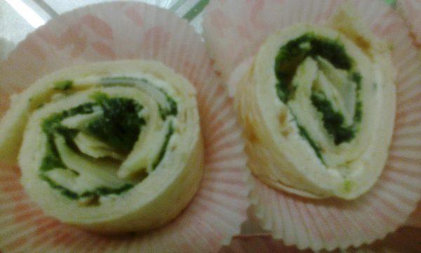 Piadagirelle agli spinaci