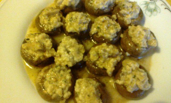 Funghi con salsa al parmigiano