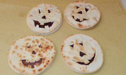 Piada zucchette di Halloween alla nutella