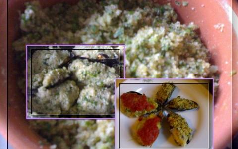 Cozze gratinate al forno con erbe miste