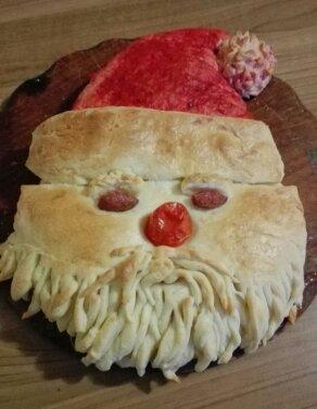 Pane al burro a forma di Babbo Natale