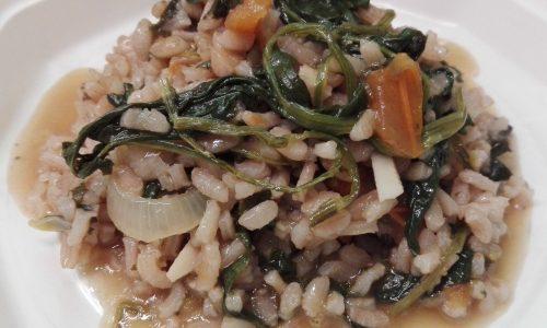 Risotto spinaci e pomodorini