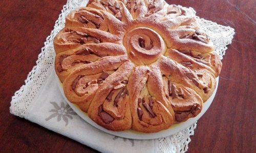 Pan brioche girasole al cioccolato