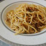 Spaghetti al ragù di vongole
