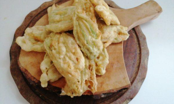 Fiori di zucca ai 4 formaggi