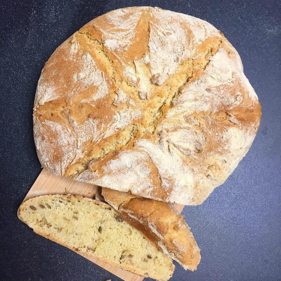 pane integrale ai semi di girasole