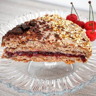 torta morbida castagna e amarena