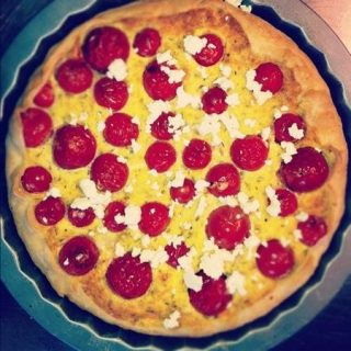 torta salata con pomdorini