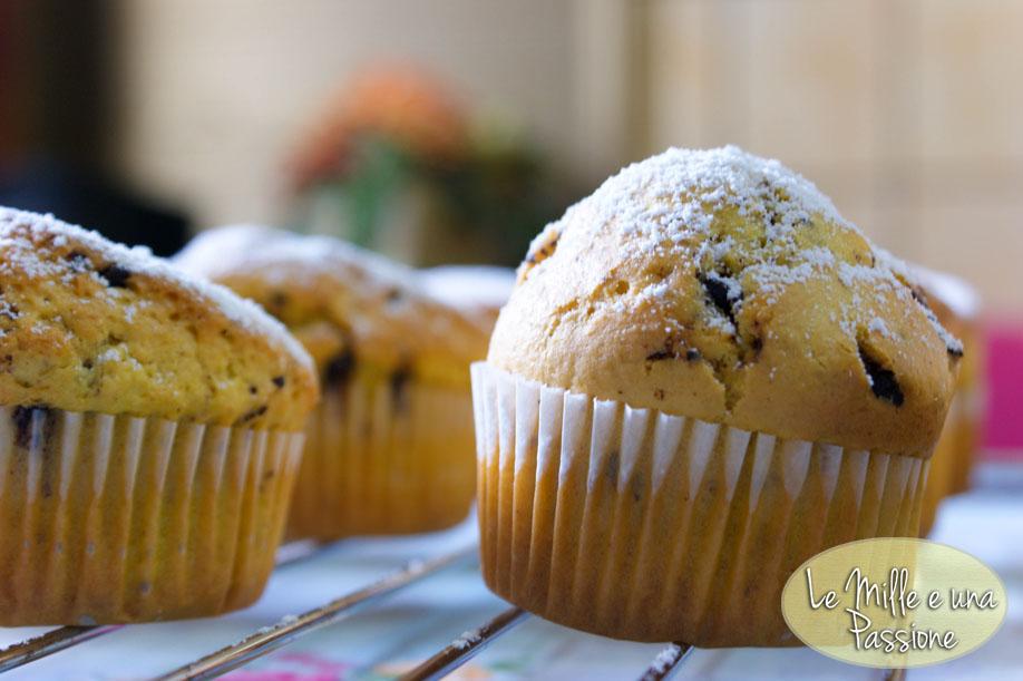 muffins con gocce di cioccolato (o nutella)