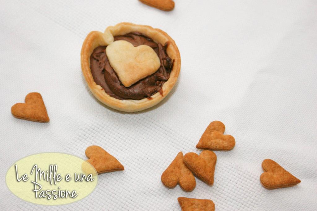 Cestino di pasta brisè con Nutella