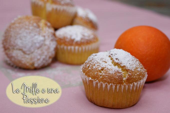 Muffins all'arancia e mandorle