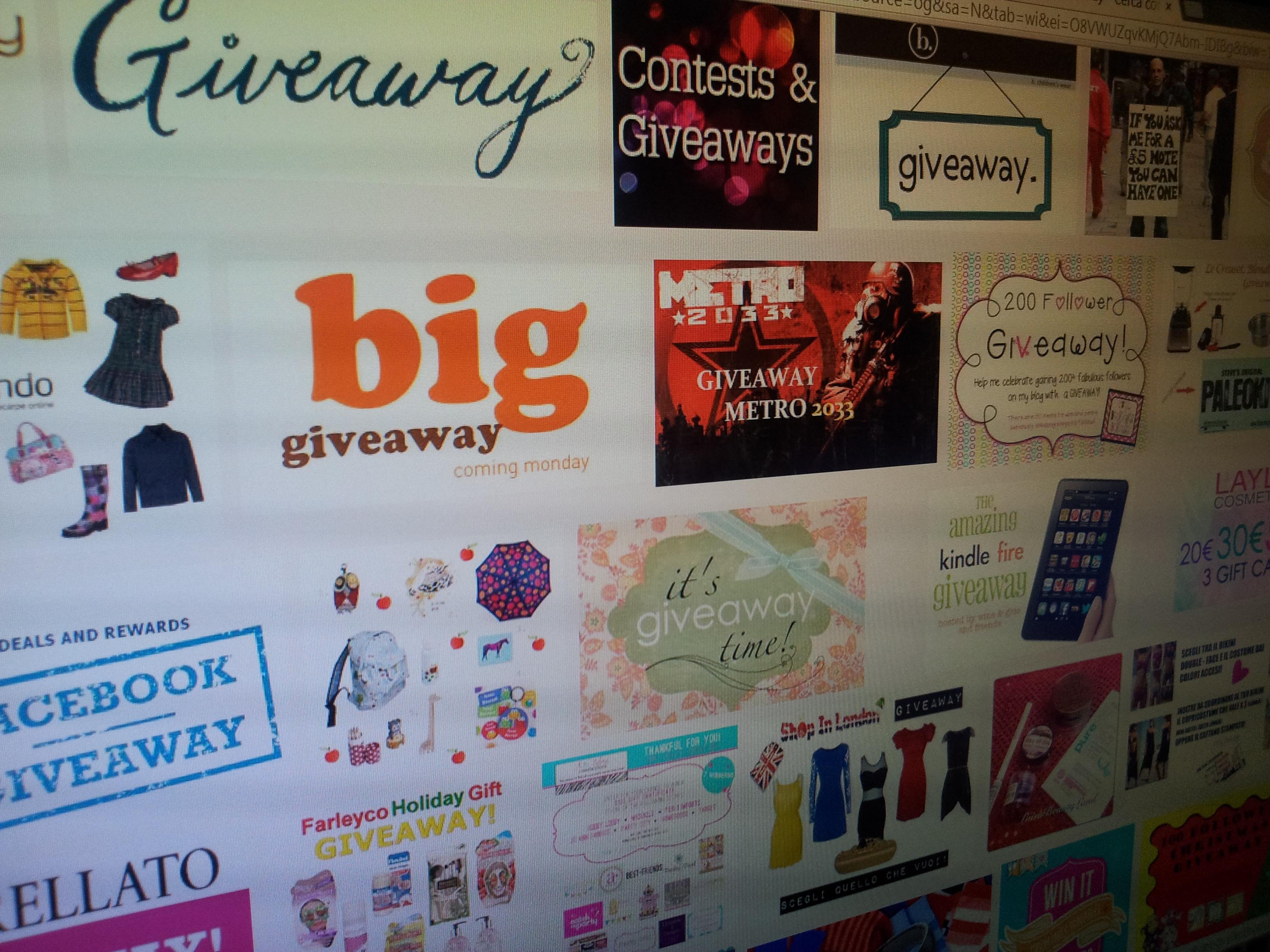 giveaway e concorsi a premi creati da privati, sono veramente a norma?