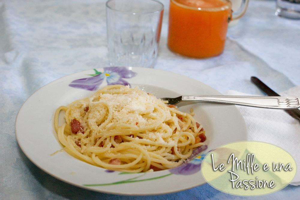 Spaghetti alla gricia (pancetta al posto del guanciale)