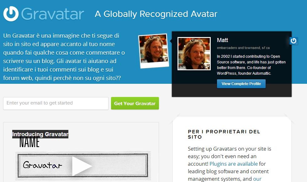 Visualizzare l'avatar sul blog altervista