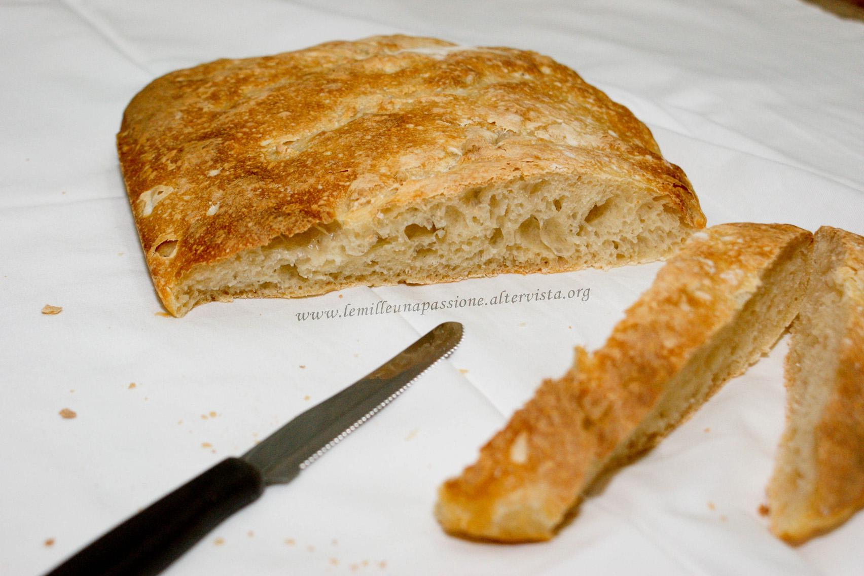 pane semplice con il poolish