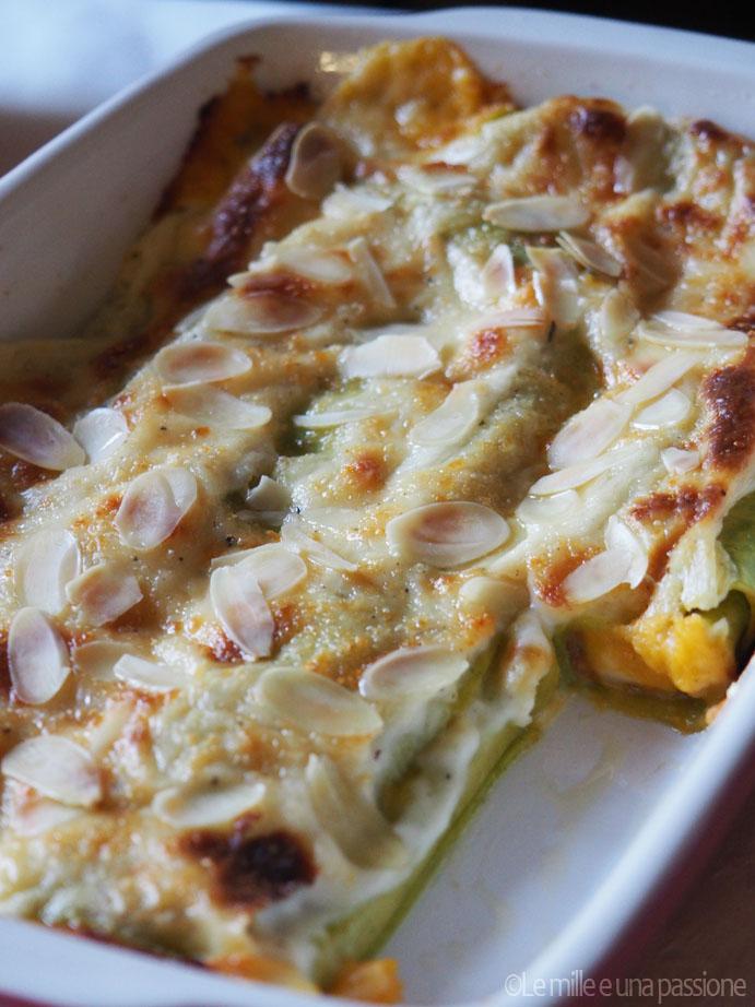 Cannelloni verdi ripieni alla zucca e gorgonzola