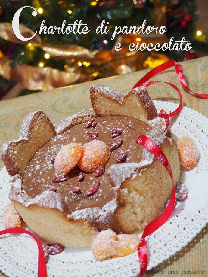 Charlotte di pandoro e cioccolato