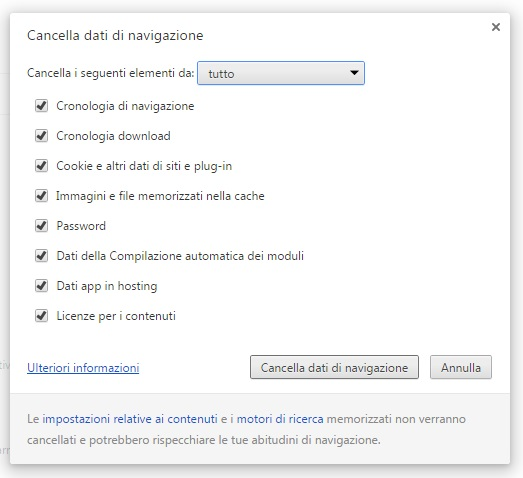 cancellare cookie 4