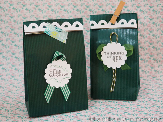Sacchetto regalo con materiale riciclato