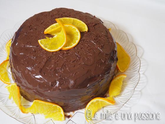 Pan di Spagna al cacao con crema al cioccolato fondente all'arancia