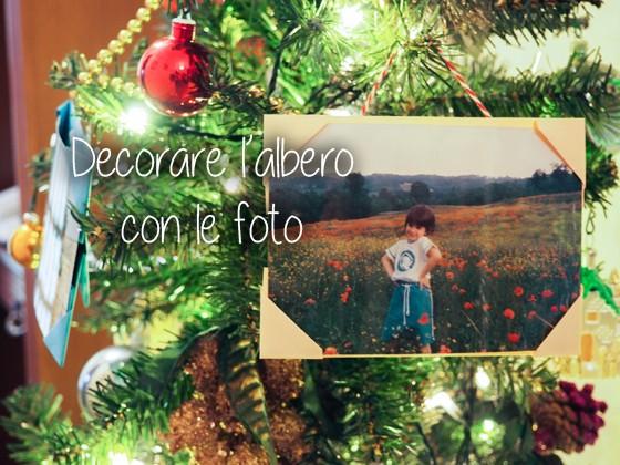 decorare l'albero di natale con le foto