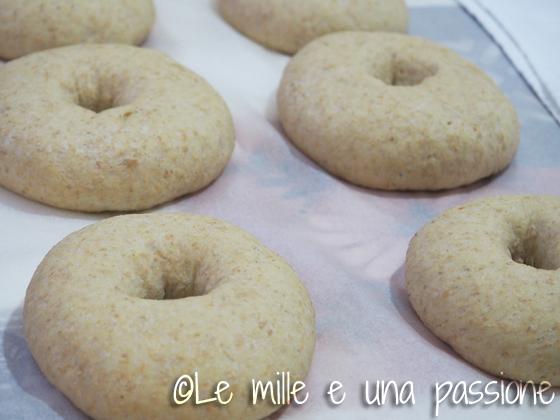 Bagels con frittata di cime di rapa