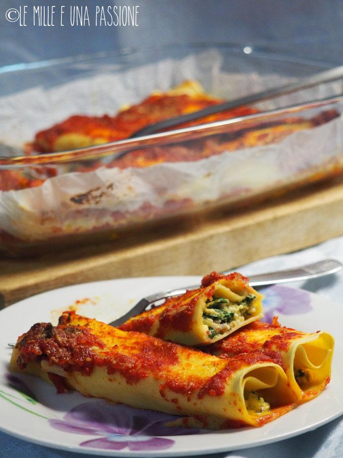 Cannelloni con ricotta e bieta