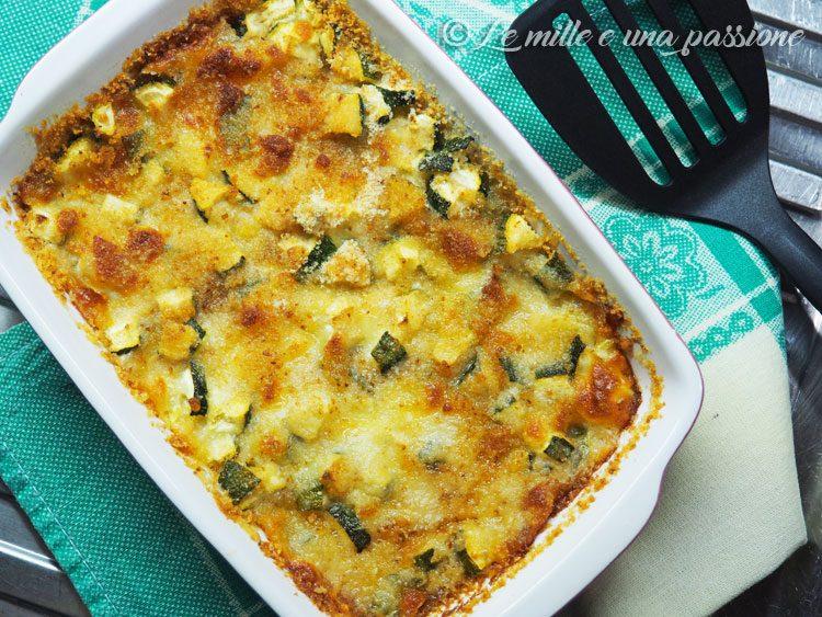 Zucchine e mozzarella al forno