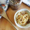 Spaghetti con alici sott'olio e pangrattato
