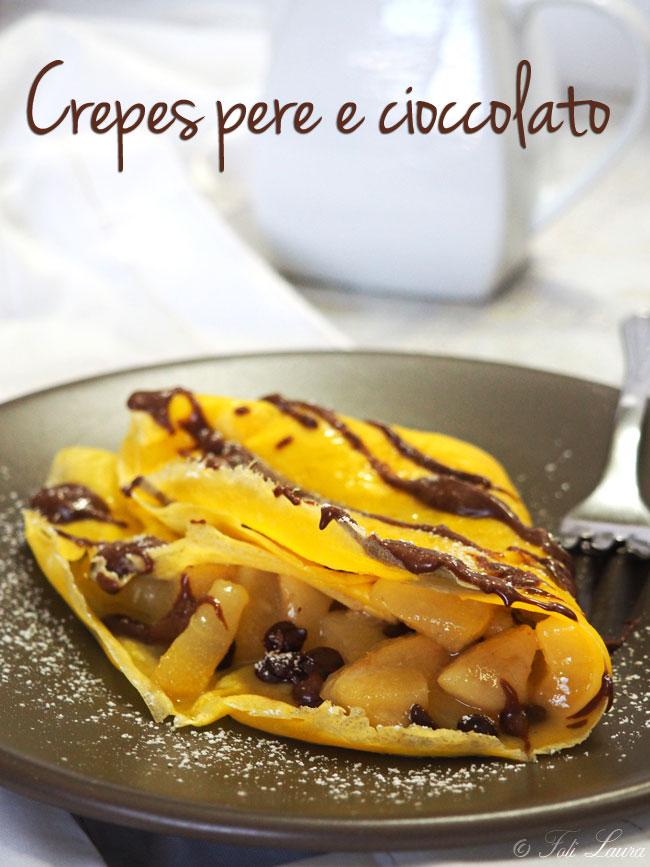 crepes pere e cioccolato
