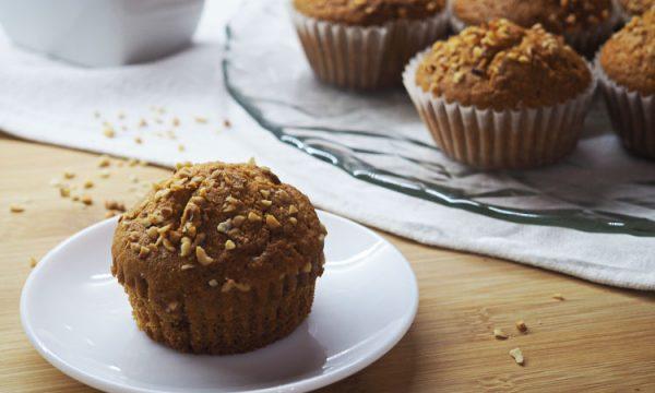 Muffins alle nocciole con crema di nocciole