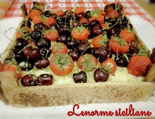 Crostata in cassetta… frutta in mostra!