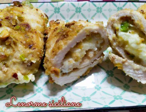Involtini di petto di pollo al forno con stracchino e scamorza affumicata