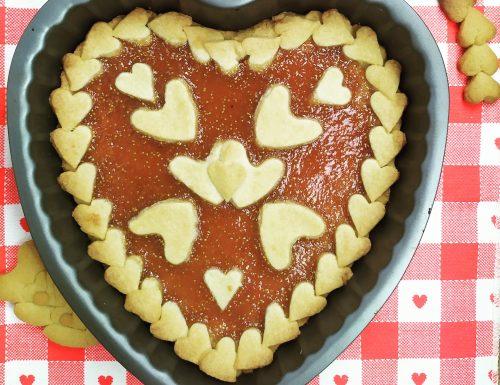 Cuor di crostata con confettura di fichi aromatizzata alla cannella e zenzero