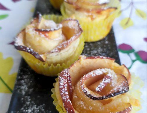 Rose di sfoglia e mele
