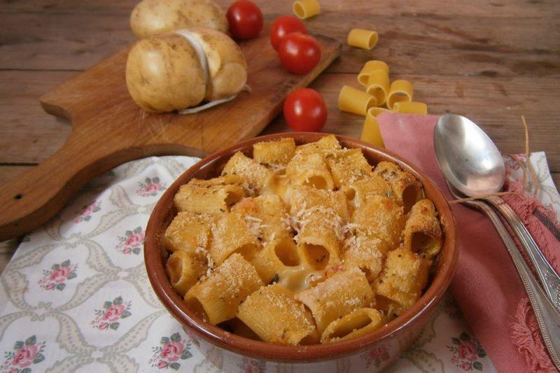 Pasta e patate arraganata