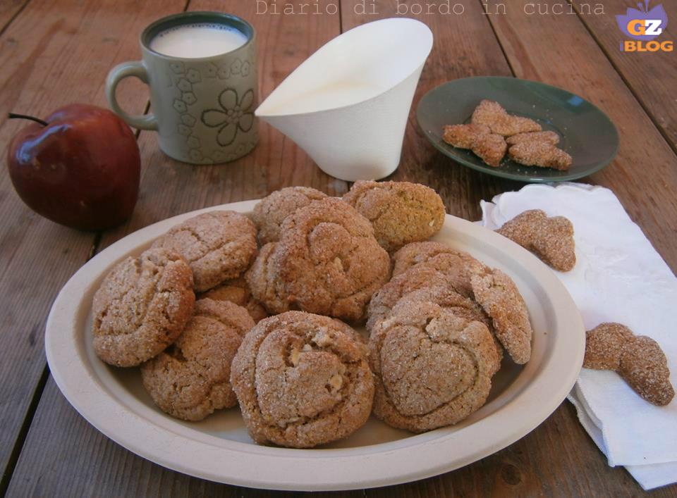 Biscotti integrali con mele