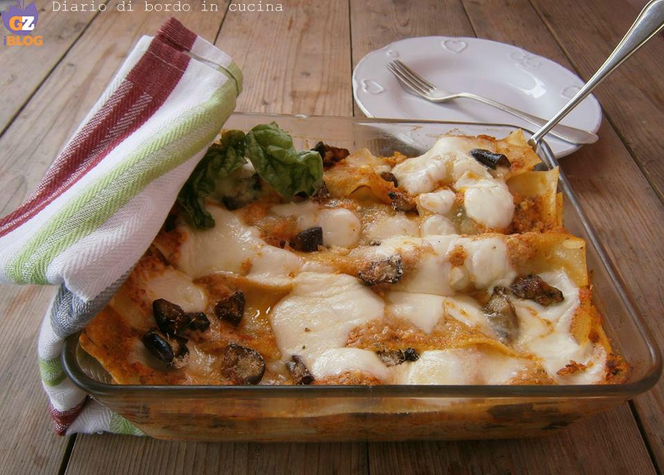 Lasagne con pesto siciliano e melanzane