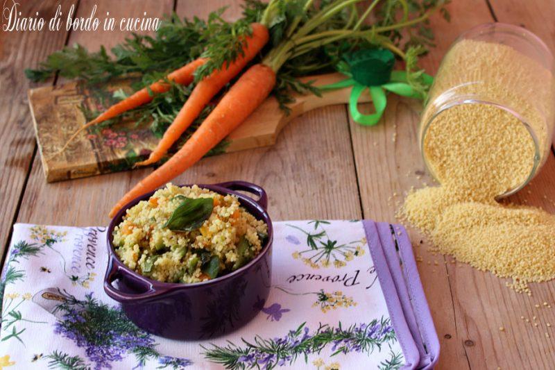 Cous cous zucchine e carote